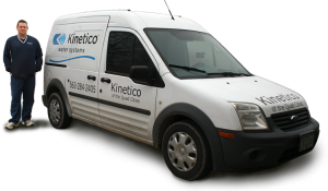 Jeff Volesky with Kinetico service van in Quad Cities Iowa/Illinois.