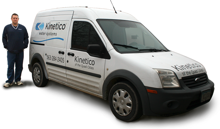 Jeff with Kinetico service van in Quad Cities Iowa/Illinois.