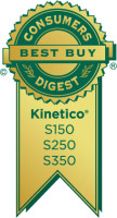 Consumers Digest Best Buy award for Kinetico water softeners. Models S150, S250 and S350.