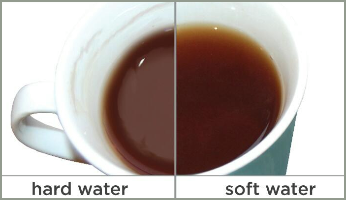 Coffee made with hard water vs. coffee made with Kinetico water.