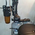 Installed Kinetico Signature series 935 water softener
