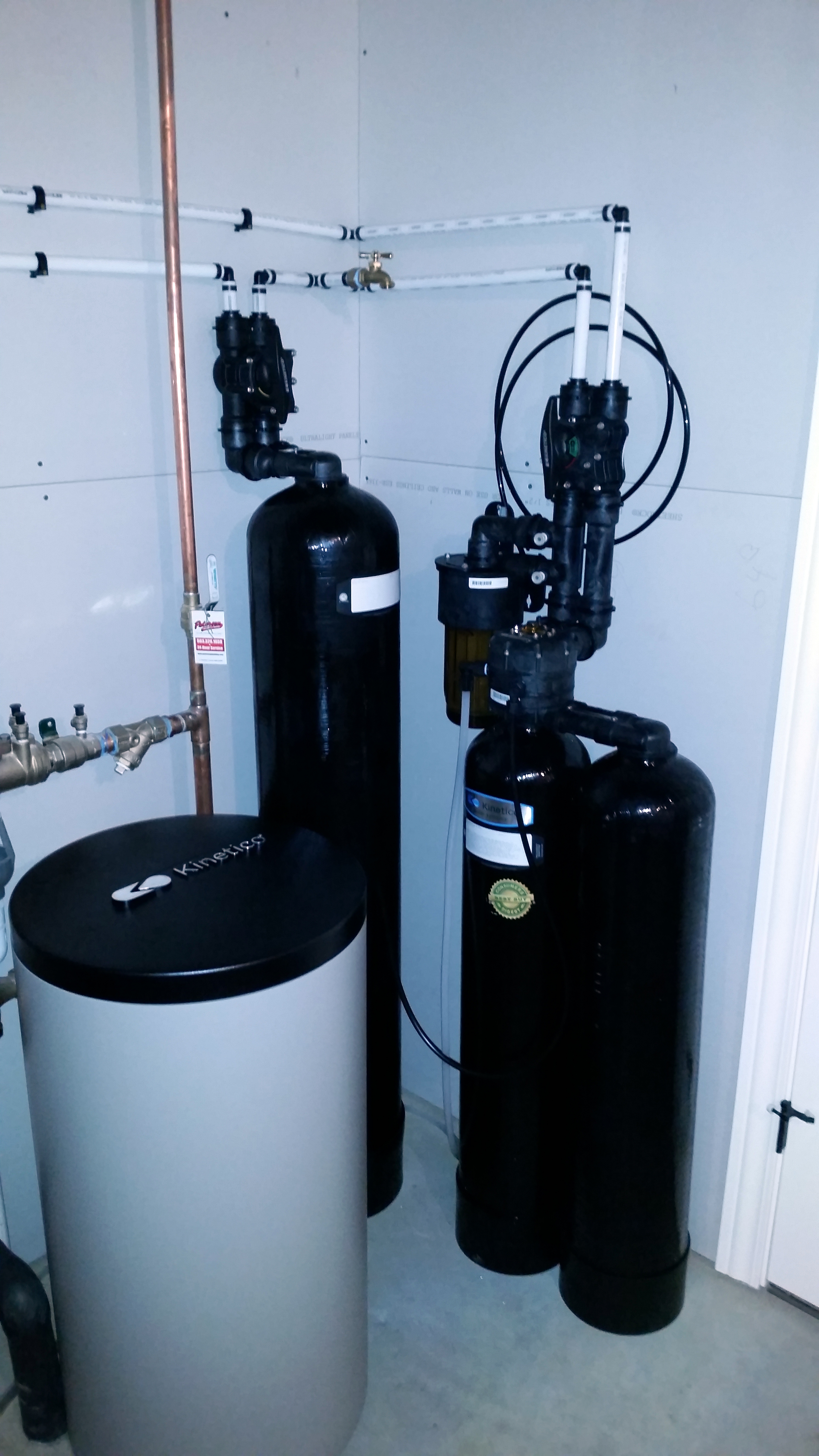 Kinetico water softener and chlorimine reduction system installed in Bettendorf