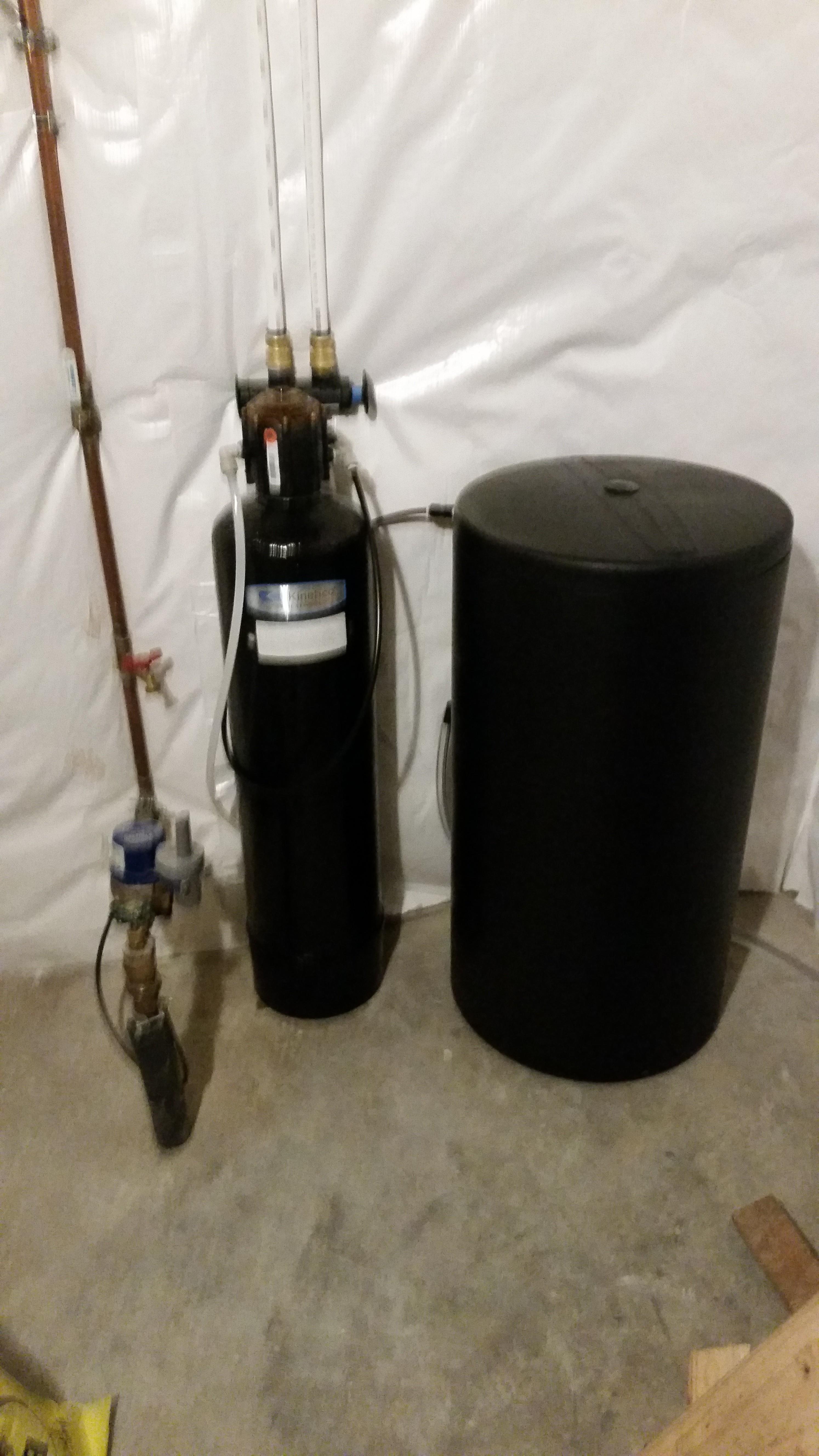 Kinetico water softener installed in Bettendorf, Iowa