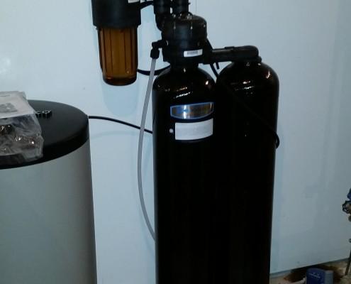 Residential Kinetico water softener installed in Bettendorf, Iowa
