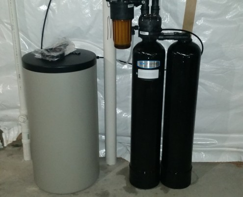 Kinetico water softener installation in Coal Valley, Illinois