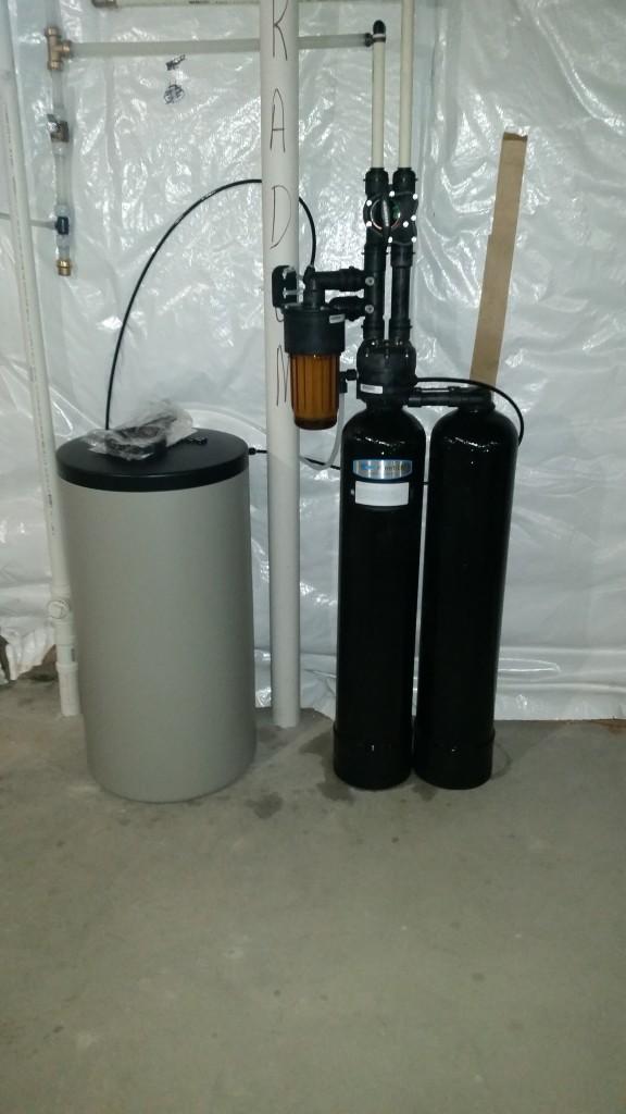Kinetico water softener installation in Coal Valley, Illinois