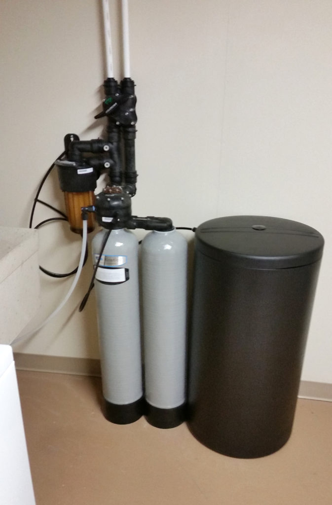 Kinetico water softener installed in a home in Matherville, Illinois
