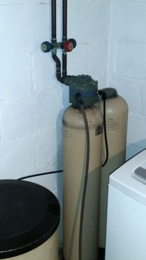 40 year old Kinetico water softener in the home of Harvey and Carol Klindt in Bettendorf, Iowa. They had never had any service performed on the system.
