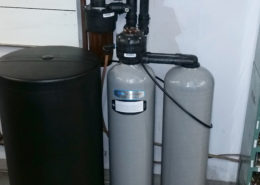 A new Kinetico water softener is installed at Decker Truck Line, Inc. in Davenport, Iowa
