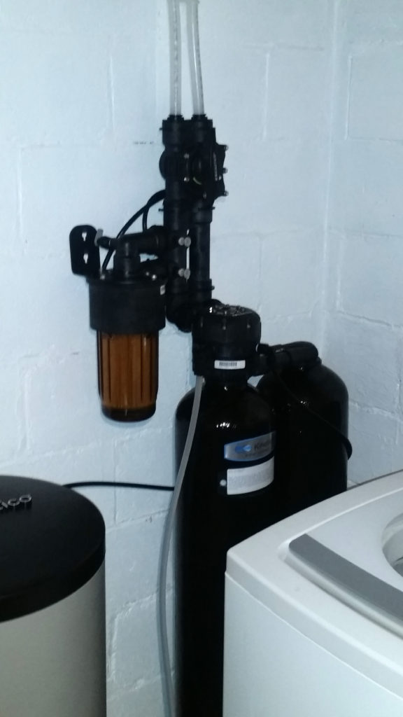 The new Kinetico softener installed in Harvey and Carol Klindt's home