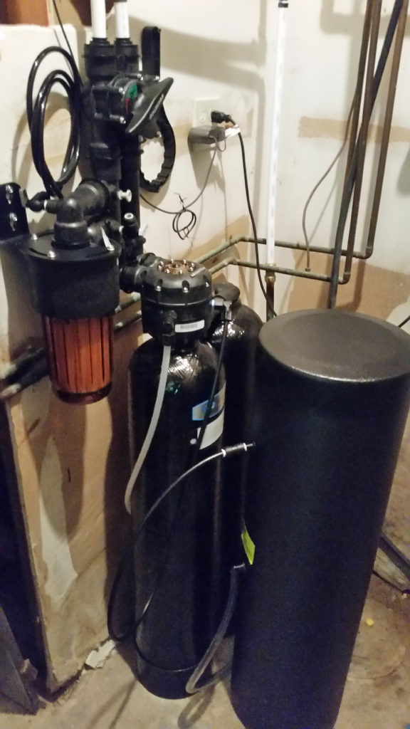Kinetico water softener installed in LeClaire, Iowa, in a home