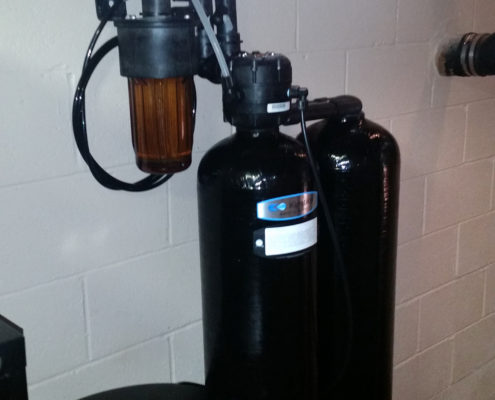 Residential Kinetico water softener installed in Moline, Illinois