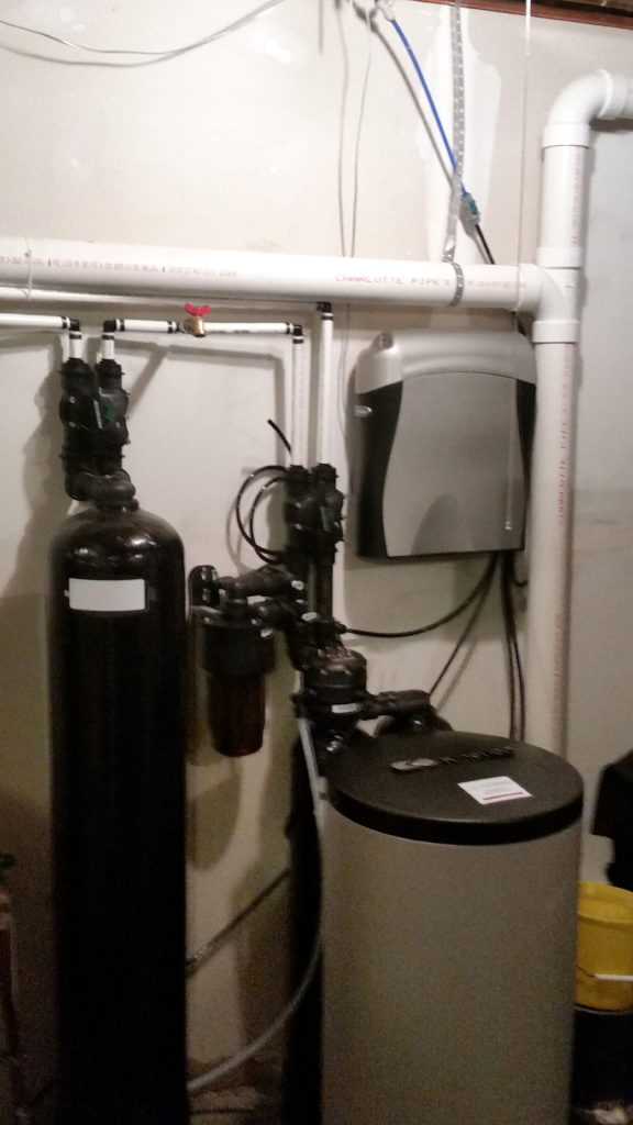 Kinetico whole house system: Kinetico Chloramine reduction, Kinetico water softener and a Kinetico Reverse Osmosis system is installed in Le Claire, Iowa