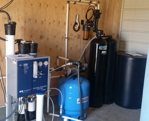 Industrial water softener installed for JC Caes Poultry/Chicken farm.