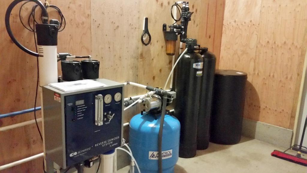 Reverse osmosis & water softener at Sandbur City Layers, LLC chicken farm in Moscow, Iowa 52760