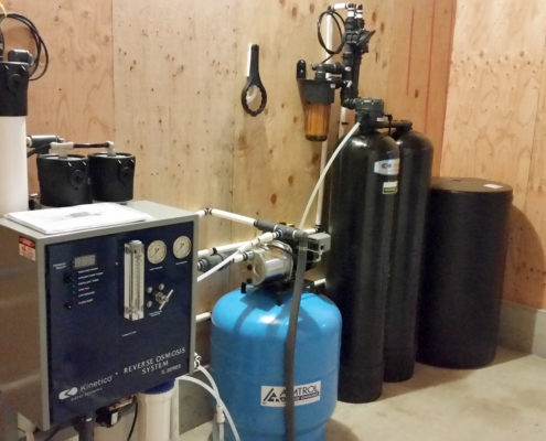 Reverse osmosis & water softener at Sandbur City Layers, LLC chicken farm in Moscow, Iowa 52760