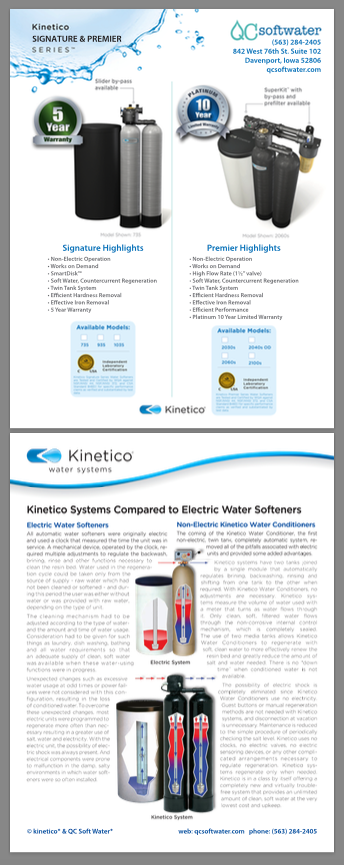 QC softwater and Kinetico hybrid flyer