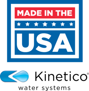 Kinetico water systems is Made in the USA (Logo)