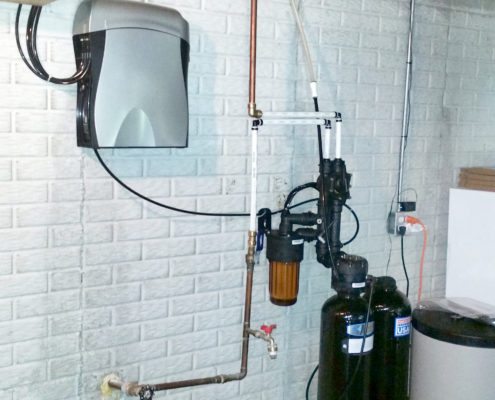 New Kinetico softener and drinking water system installed in Milan, Illinois. The water softener that was removed was only 1 year old!