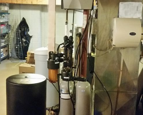 A new Kinetico water softener and Reverse Osmosis drinking water system installed in Davenport, Iowa