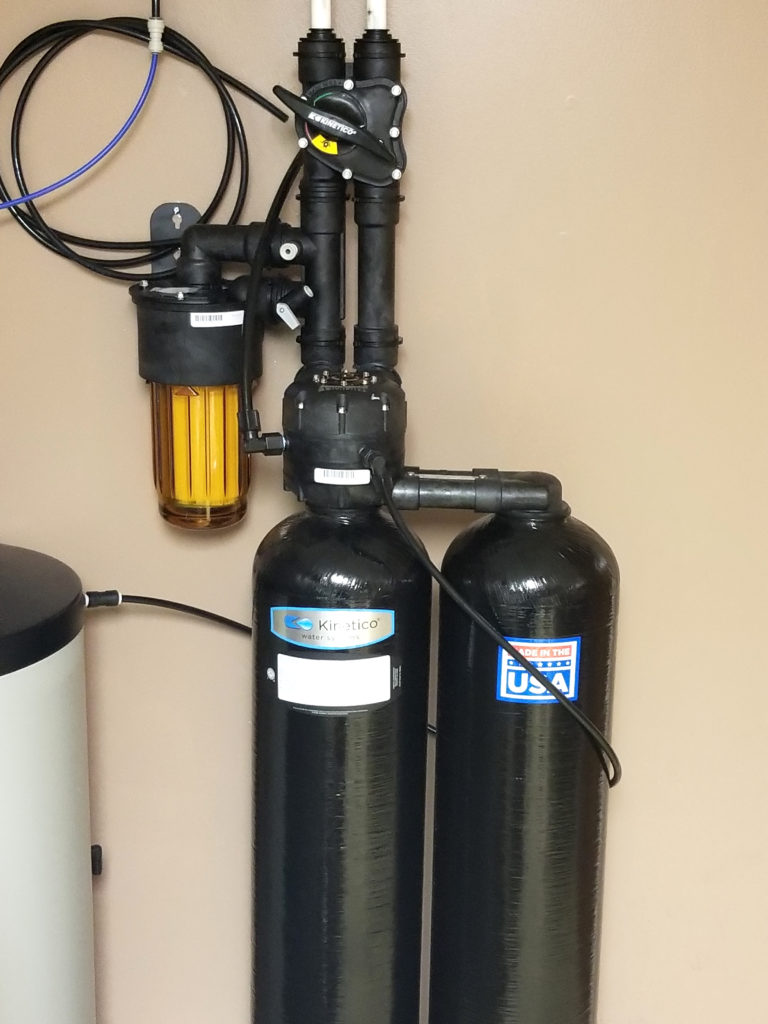 Kinetico soft water at Bed Bath and Biscuits grooming in Blue Grass, Iowa