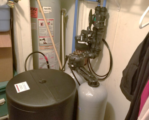A Kinetico water softener is the perfect fit in a mobile home