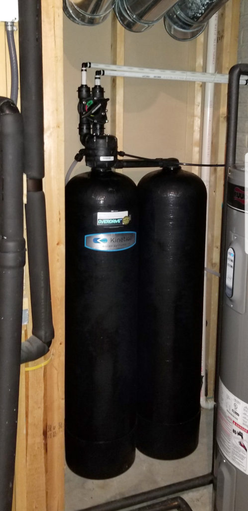 Nitrate Reduction system by Kinetico installed in De Witt, Iowa for Customer