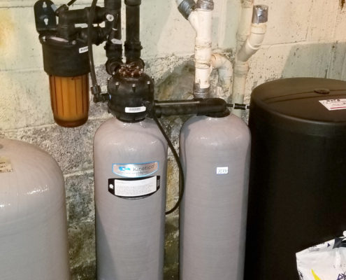 Customer in Clinton county gets a Kinetico water softener
